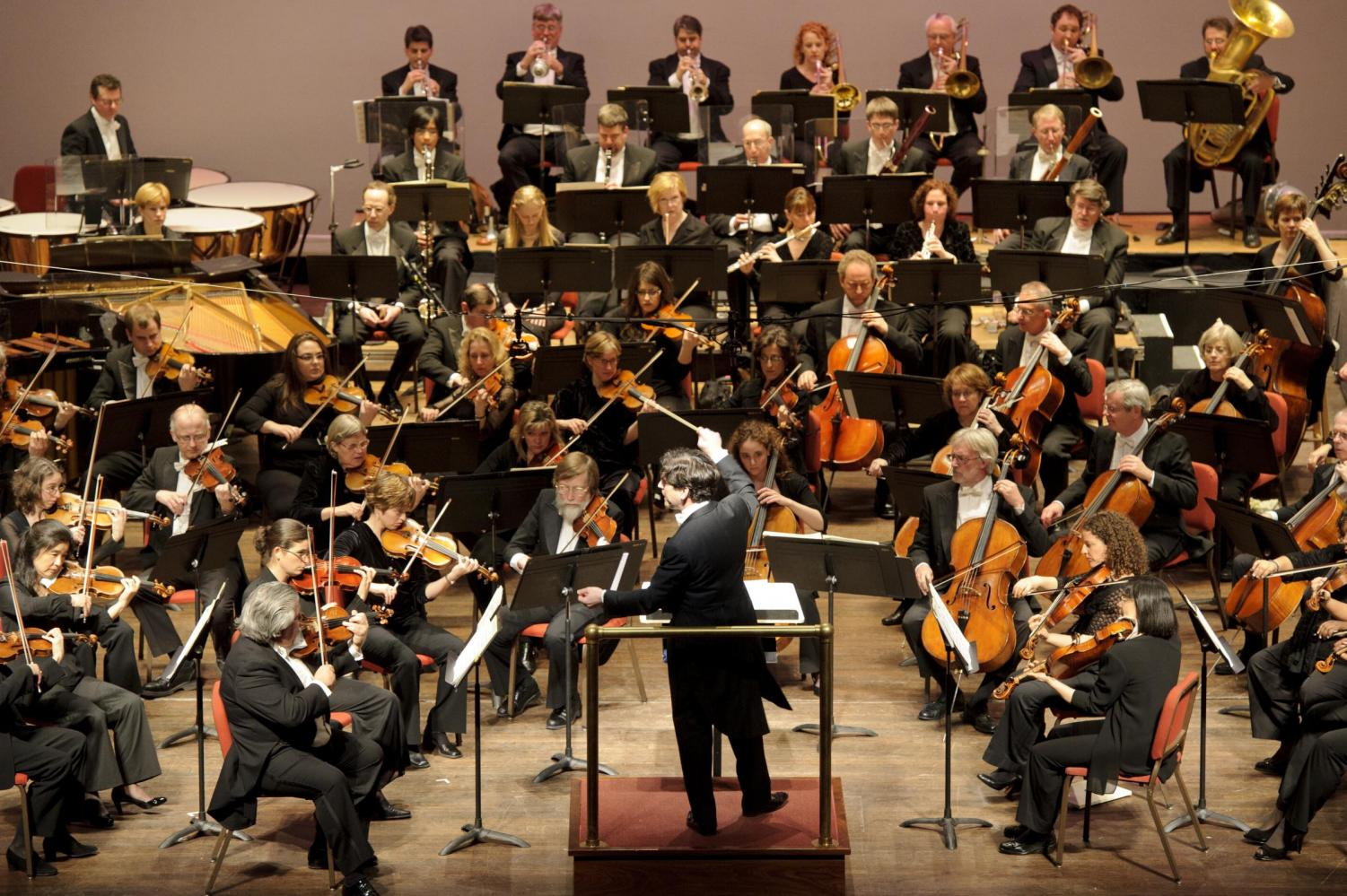 A symphony orchestra, one that could be used for creating a soundtrack. Source: Delaware Public Media