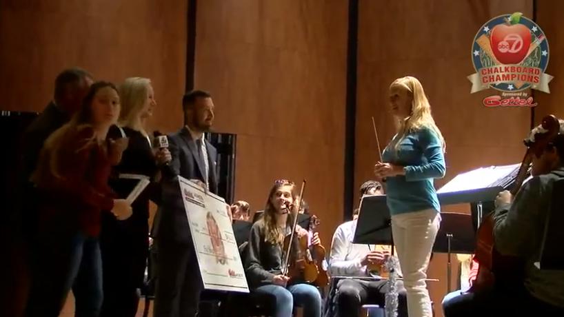 Mrs. Eskildsen wins December Chalkboard Champion award