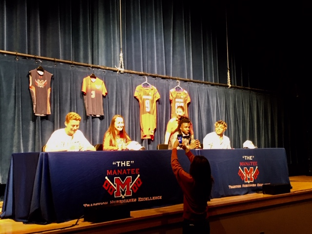 National Signing Day at Manatee High School