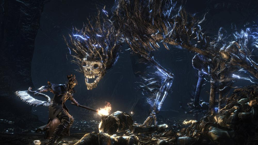 A new hunter faces one of the infamous Darkbeasts in the ruins of old Yharnam. Large beasts were a focus in the creation of Bloodborne bosses, and previous fights reflect this. Photo Source: PCMag