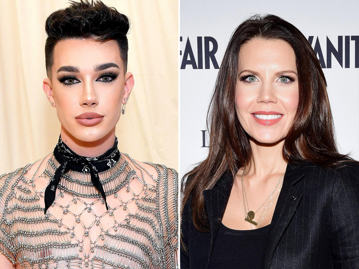 Left, James Charles. Right, Tati Westbrook. Photo credit: People