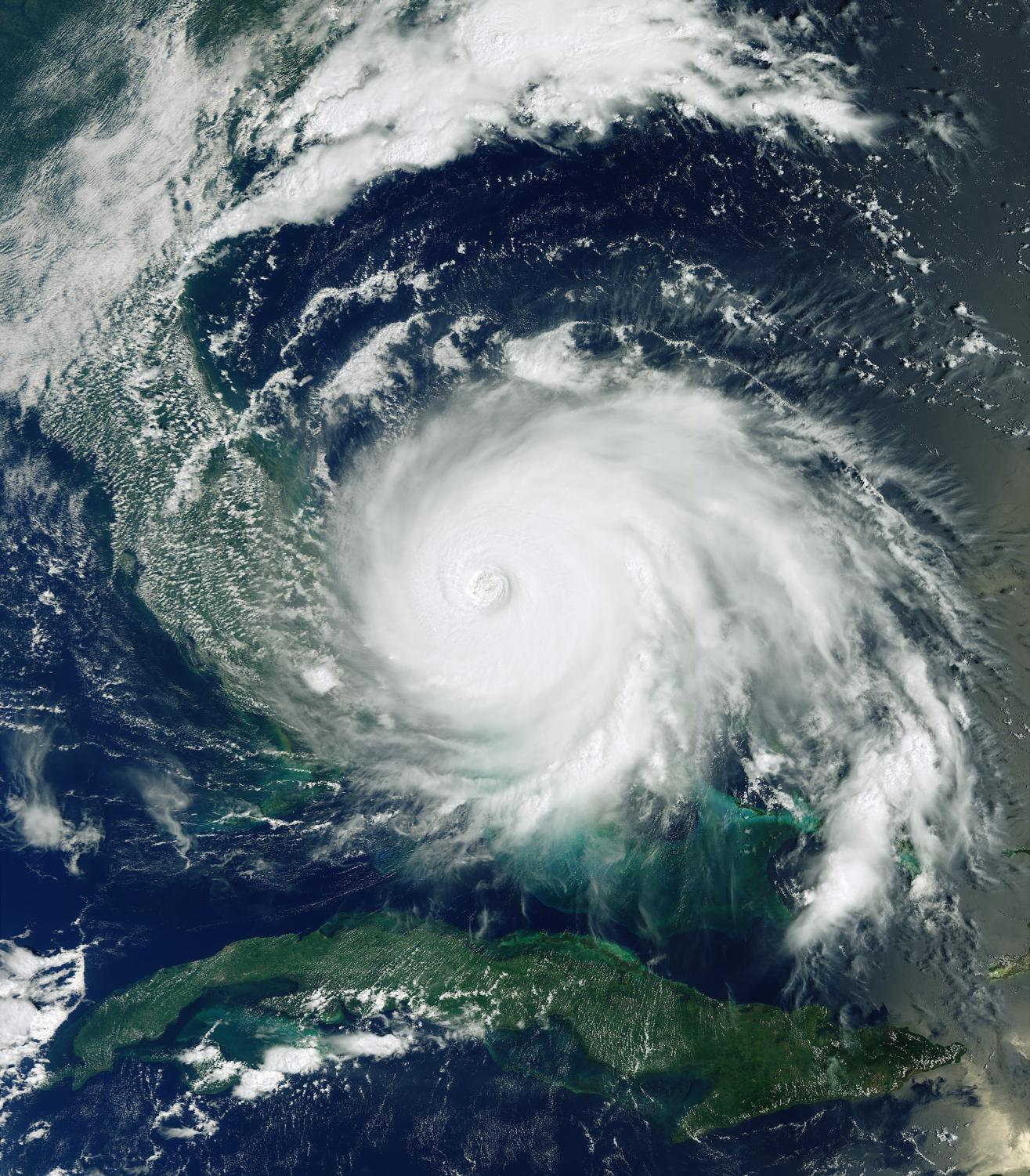 Hurricane Dorian as seen from the Copernicus Sentinel-3 satellite. Photo credit: wired.com.