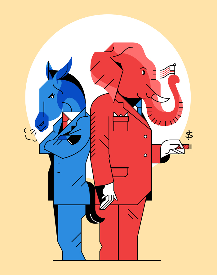 Republicans+vs+Democrats%3A+There+is+becoming+less+and+less+of+a+common+ground+between+the+two+parties.+Decades+ago%2C+the+parties+were+much+more+open-minded+when+negotiating.+%22People+have+become+so+sensitive+and+close-minded%2C%22+stated+Lexi+Rogers+%2811%29.+