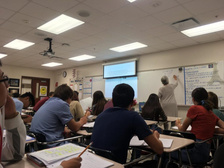 Work, work, work Madame Marshall teaches her French 2 class
