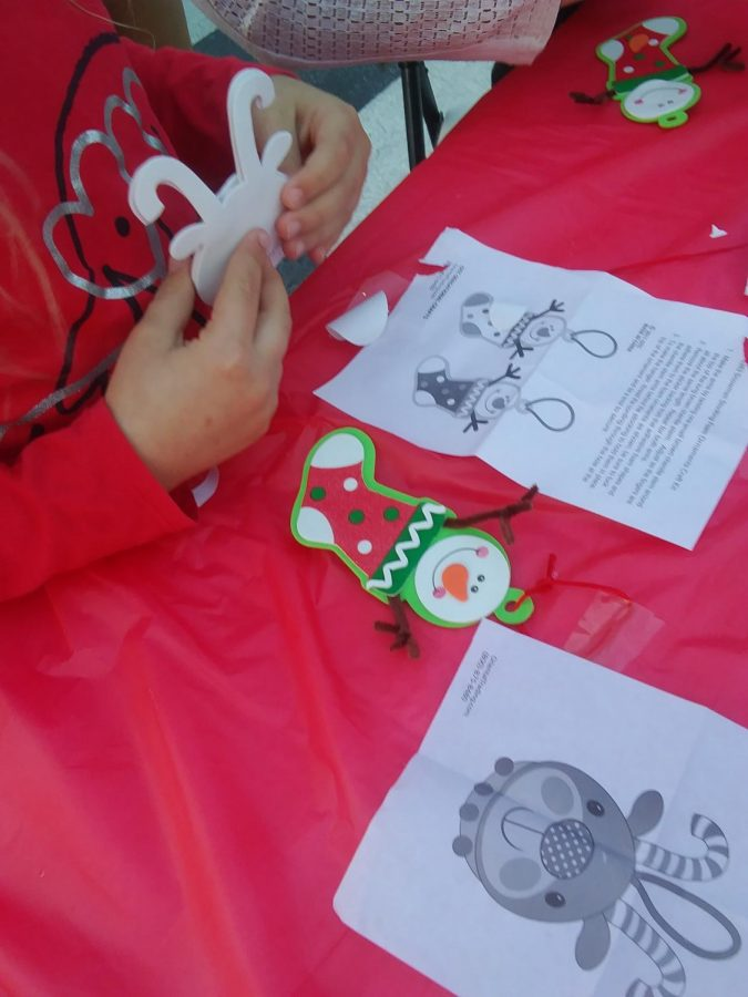 FCCLA makes ornaments for the kids