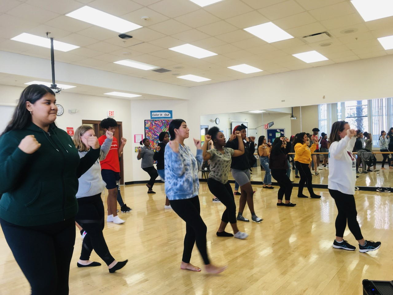 Whole new world Mrs. Babroski's fourth period dance along to