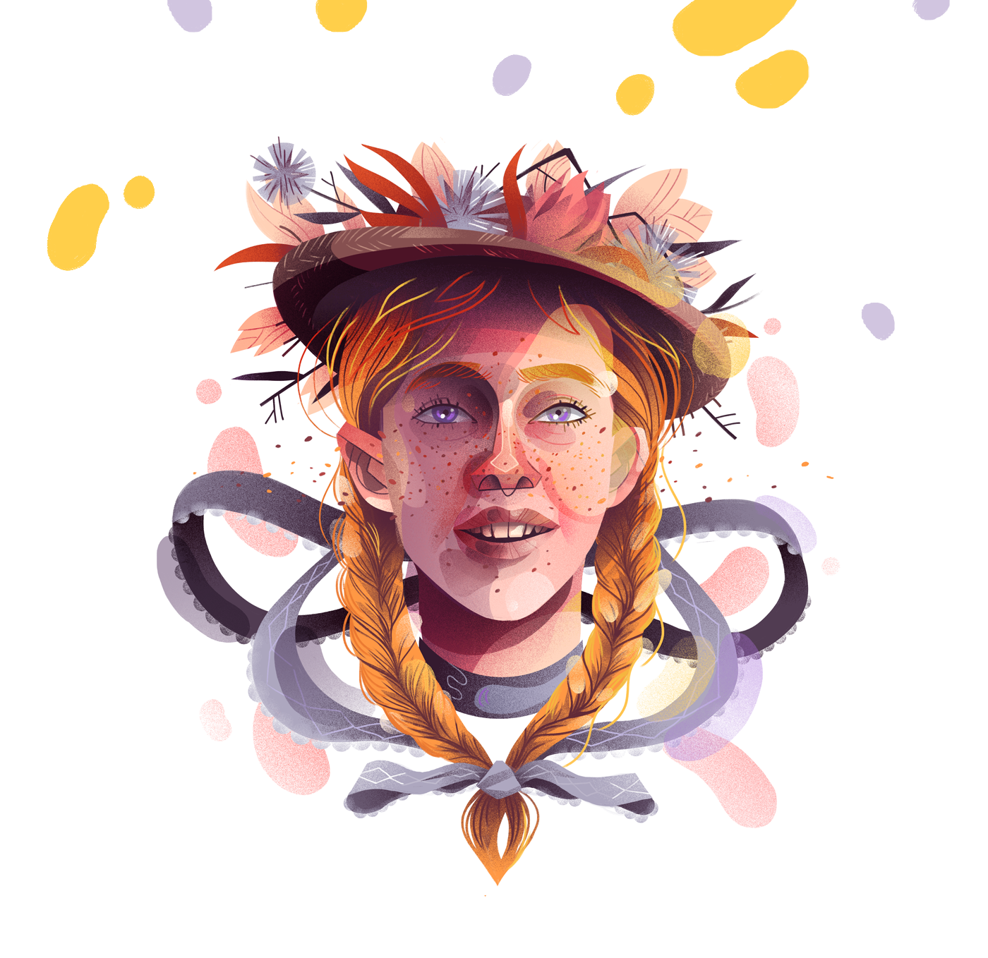 Orange Hair, Don't Care: Anne portrays as the unpopular kid who learns how to fit in. In season 3, she showed tremendous growth and found out herself in a much deeper way.
