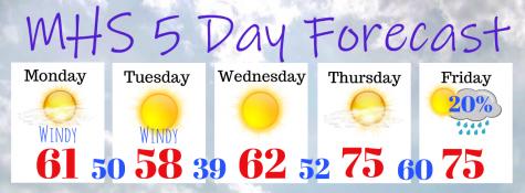 Weekly forecast 1/20-1/24