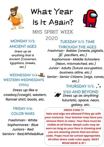 Homecoming 2020- Spirit Week Info