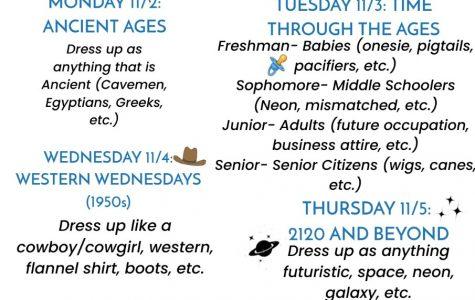 Homecoming 2020- Spirit Week Info