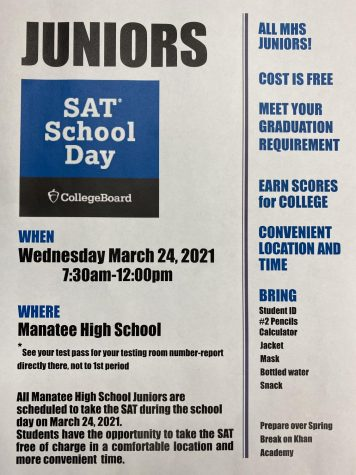 Juniors take the SAT this Wednesday
